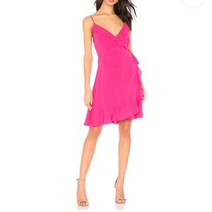 cupcakes and cashmere NWT Pink Catana Wrap Dress S